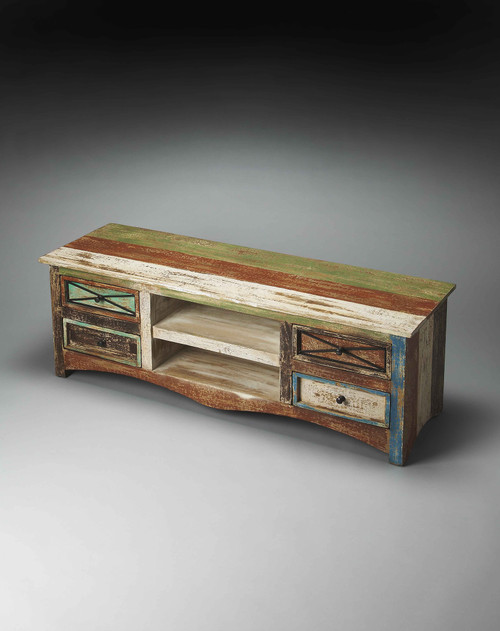 Decatur Recycled Wood Entertainment Console