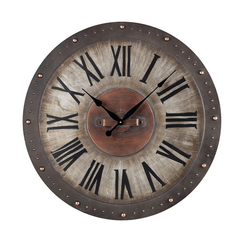 "31"" ELK Home METAL ROMAN NUMERAL OUTDOOR WALL CLOCK., Traditional - 1"