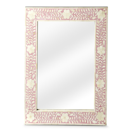 "30"" Butler Bone Inlay Wall Mirror - 1"