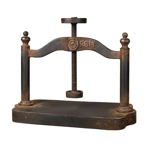 "20"" ELK Home CAST IRON BOOK PRESS, Traditional - 1"