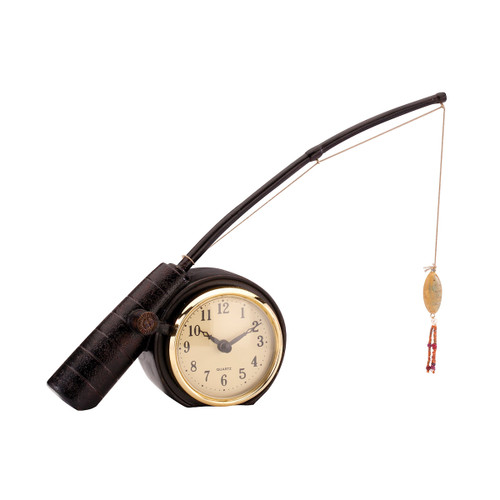 "12"" ELK Home ROD 'N REEL CLOCK, Traditional - 1"