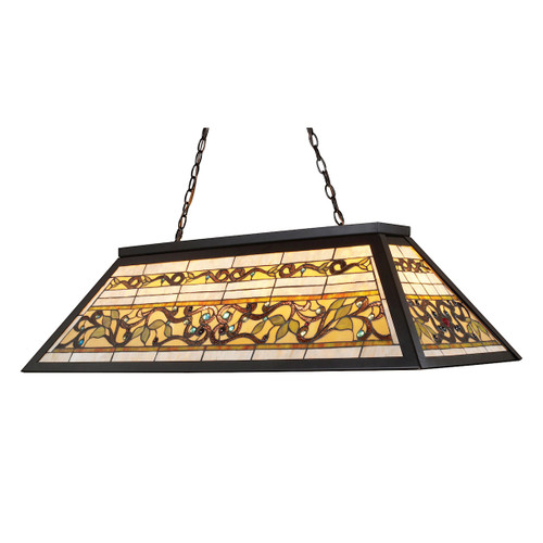 "44"" ELK Lighting Tiffany Buckingham 4-Light Billiard Light in Tiffany Bronze, Traditional - 1"