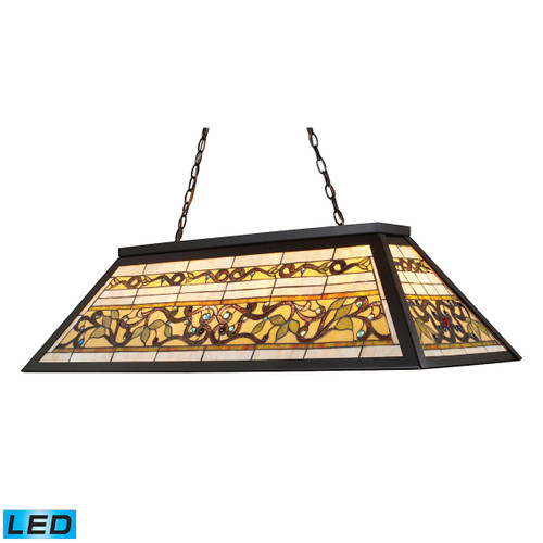 "44"" ELK Lighting Tiffany Buckingham 4-Light Billiard Light in Tiffany Bronze - Includes LED Bulbs, Traditional - 1"