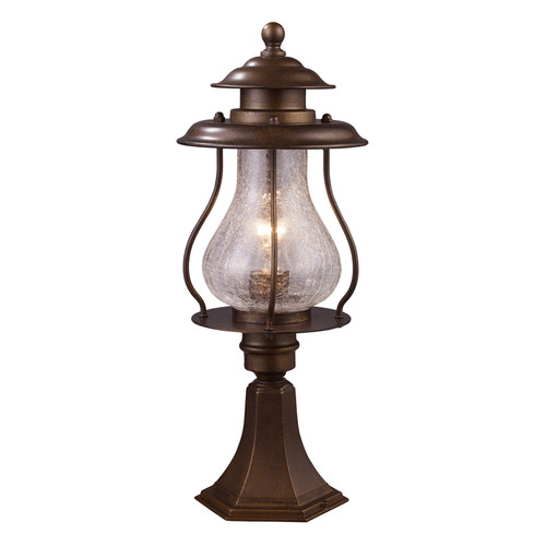 Wikshire 1 Light Outdoor Post Mount In Coffee Bronze