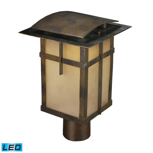 San Fernando 1 Light Outdoor LED Post Light In Hazelnut Bronze - Title 24 Compliant