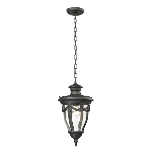 "16"" ELK Lighting Anise 1-Light Outdoor Pendant in Textured Matte Black, Traditional - 1"