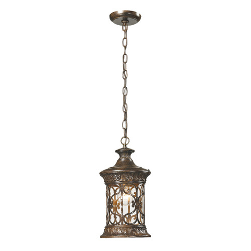"15"" ELK Lighting Orlean 1-Light Outdoor Pendant in Hazelnut Bronze, Traditional - 1"
