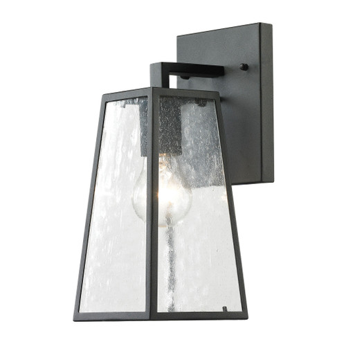 "12"" ELK Lighting Meditterano 1-Light Outdoor Wall Lamp in Matte Black - Small, Transitional - 1"
