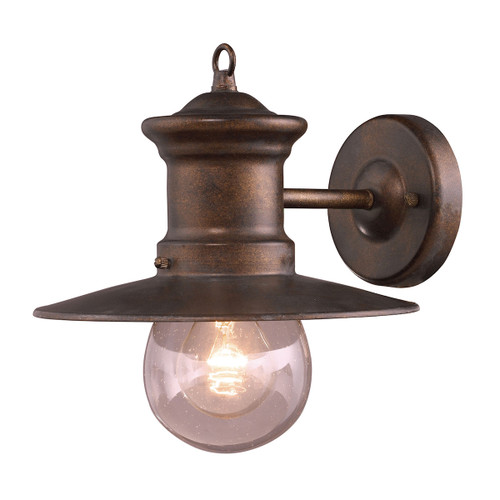 "11"" ELK Lighting Maritime 1-Light Outdoor Wall Lamp in Hazelnut Bronze, Transitional - 1"