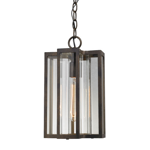 "14"" ELK Lighting Bianca 1-Light Outdoor Pendant in Hazelnut Bronze, Transitional - 1"