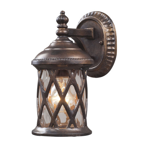 "10"" ELK Lighting Barrington Gate 1-Light Outdoor Wall Lantern in Hazelnut Bronze, Traditional - 1"