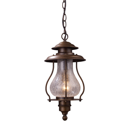 "16"" ELK Lighting Wikshire 1-Light Outdoor Pendant in Coffee Bronze, Traditional - 1"