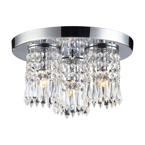 "12"" ELK Lighting Optix 3-Light Semi Flush in Polished Chrome with 32% Lead Crystal, Modern / Contemporary - 1"