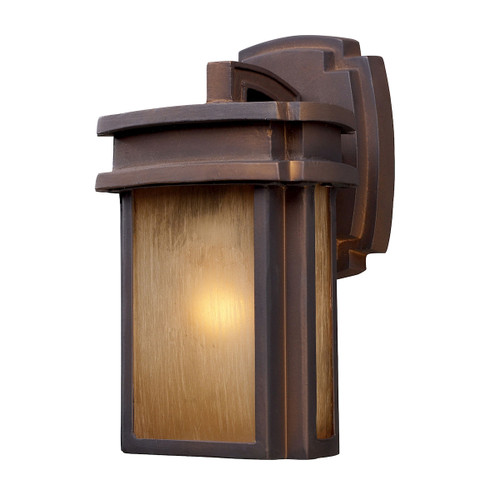 "10"" ELK Lighting Sedona 1-Light Outdoor Wall Lamp in Hazelnut Bronze, Transitional - 1"
