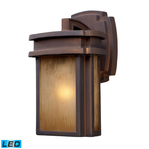 "10"" ELK Lighting Sedona 1-Light Outdoor Wall Lamp in Hazelnut Bronze - Includes LED Bulb, Transitional - 1"