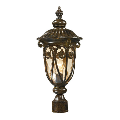 Logansport 1 Light Outdoor Post Lamp In Hazelnut Bronze