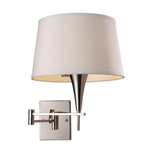 """16"""" ELK Lighting Swingarms 1-Light Swingarm Wall Lamp in Polished Chrome with Shade, Transitional - 1"""