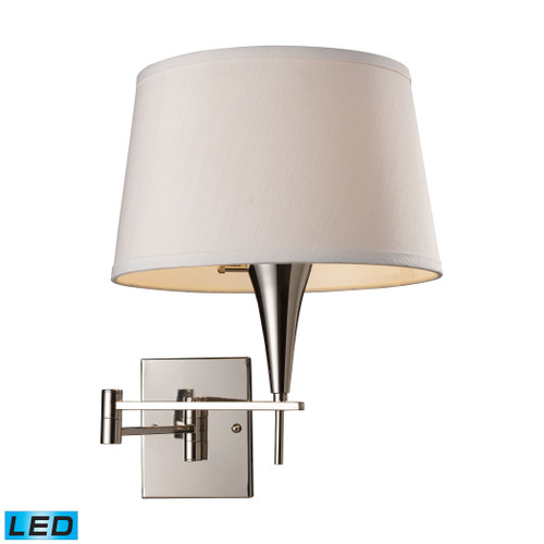 """16"""" ELK Lighting Swingarms 1-Light Swingarm Wall Lamp in Polished Chrome with Shade - Includes LED Bulb, Transitional - 1"""