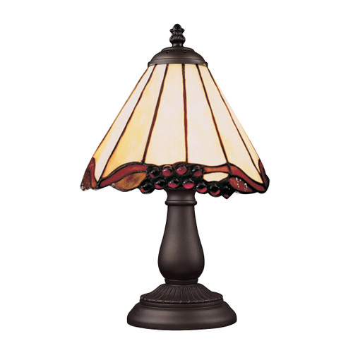 "13"" ELK Lighting Mix-N-Match Table Lamp in Tiffany Bronze, Traditional 1 - 1"