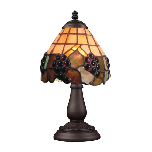 "13"" ELK Lighting Mix-N-Match Table Lamp in Tiffany Bronze, Traditional 3 - 1"