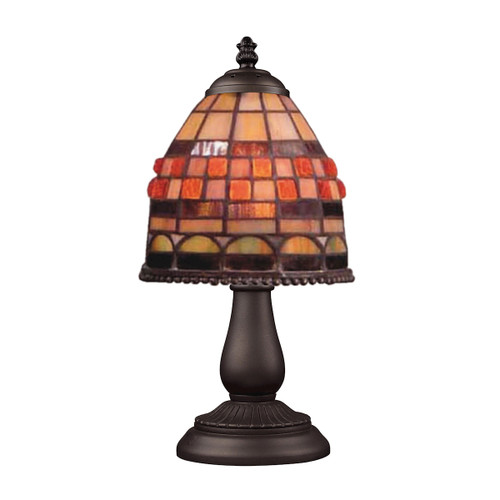 "13"" ELK Lighting Mix-N-Match Table Lamp in Tiffany Bronze, Traditional 5 - 1"