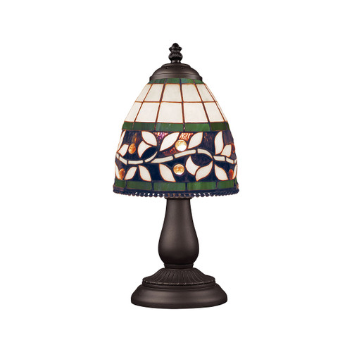 "13"" ELK Lighting Mix-N-Match Table Lamp in Tiffany Bronze, Traditional 7 - 1"