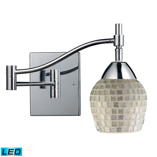 """22"""" ELK Lighting Celina 1-Light Swingarm Wall Lamp in Chrome with Silver Glass - Includes LED Bulb, Transitional - 1"""