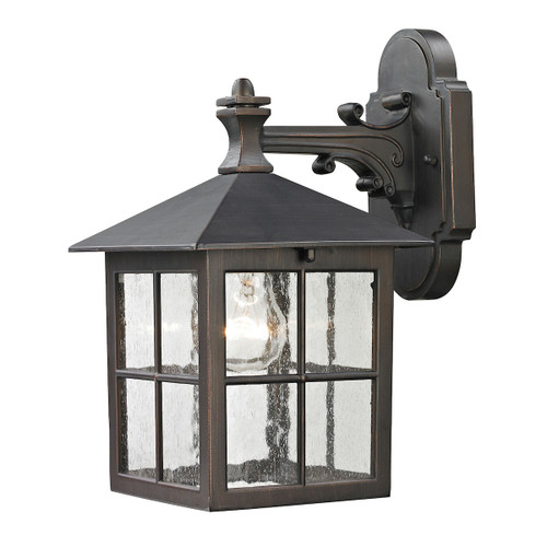 "11"" Thomas Lighting Shaker Heights 1-Light Coach Lantern in Hazelnut Bronze - Small, Traditional - 1"