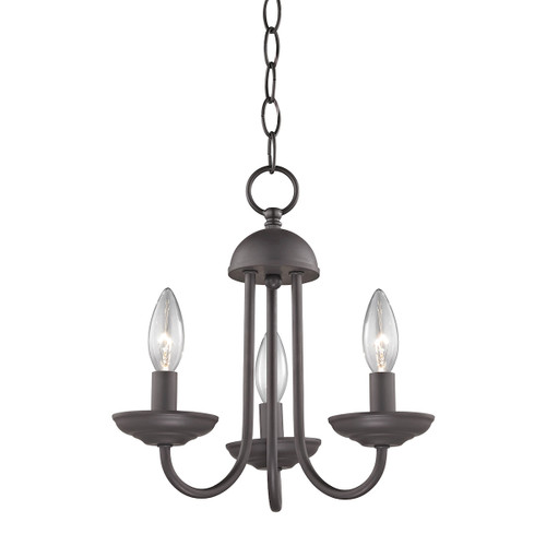 """12"""" Thomas Lighting Williamsport 3-Light Chandelier in Oil Rubbed Bronze, Traditional - 1"""