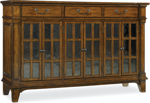 """42"""" Hooker Furniture Dining Room Three-Drawer Tynecastle Buffet Cabinet - 1"""