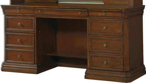 "31"" Hooker Furniture Home Office Five-Drawer Cherry Creek Computer Credenza Cabinet - 1"