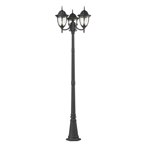 Central Square 3 Light Outdoor Post Lamp In Charcoal