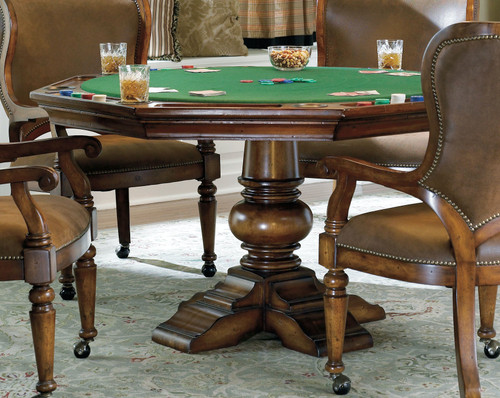"30"" Hooker Furniture Bar and Game Room Waverly Place Reversible Top Poker Table - 1"