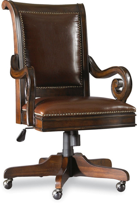 "42"" Hooker Furniture Home Office European Renaissance II Tilt Swivel Chair - 1"