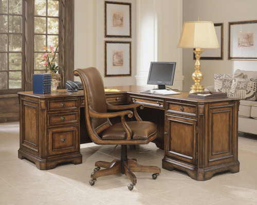 "31"" Hooker Furniture Home Office Brookhaven Executive L Right Return Desk - 1"