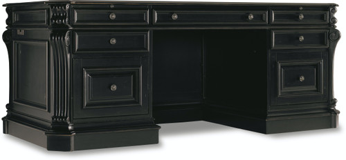 "30"" Hooker Furniture Home Office Telluride Executive Desk with Leather Panels - 1"