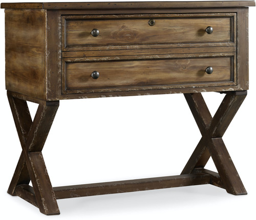 """32"""" Hooker Furniture Home Office One-Drawer Bennett X-Base Lateral File - 1"""
