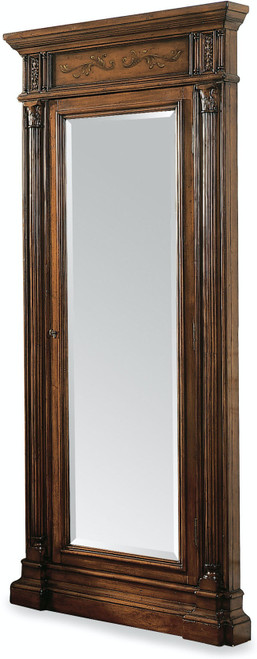 "85"" Hooker Furniture Accents Floor Mirror with Jewelry Armoire Storage - 1"