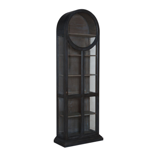 """86"""" ELK Home Round Top Display Cabinet, Transitional - 1"""
