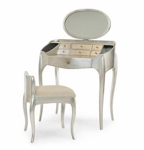 """51"""" Century Furniture Pierre Vanity with Mirror and Vanity Chair - 1"""