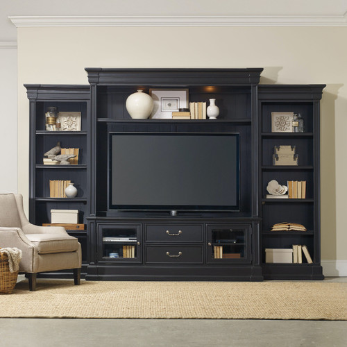 """89"""" Hooker Furniture Home Entertainment Clermont Four Piece Wall Unit 1 - 1"""