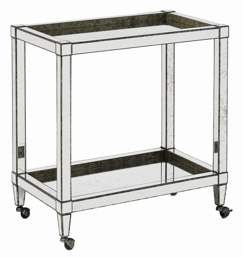 "31"" Currey and Company Monarch Bar Cart - 1"