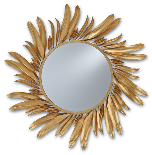 "31"" Currey and Company Folium Mirror - 1"