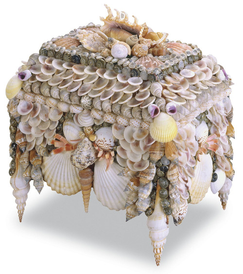 "10"" Currey and Company Boardwalk Shell Jewelry Box - 1"