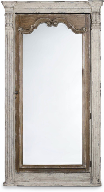 "84"" Hooker Furniture Accents Chatelet Floor Mirror with Jewelry Armoire Storage - 1"