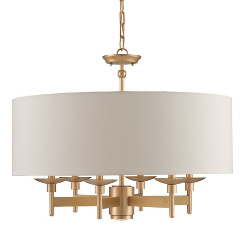 "28"" Currey and Company Bering Brass Chandelier - 1"