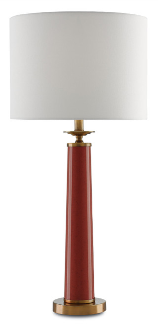"33"" Currey and Company Rhyme Red Table Lamp - 1"