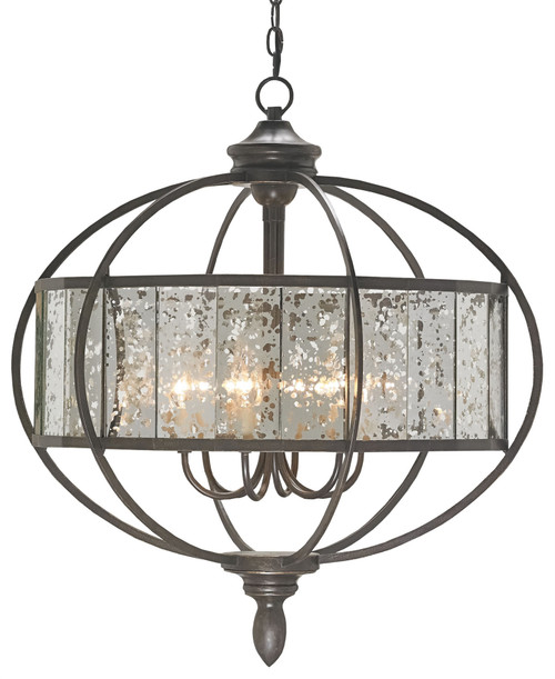 "30"" Currey and Company Florence Bronze Chandelier - 1"