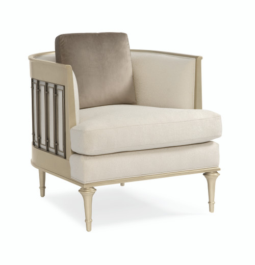 """Caracole 35"""" Caracole Upholstery - Quit Your Metal-Ing, Platinum, Tungsten-1"""