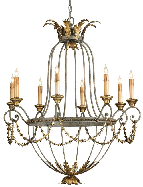 "34"" Currey and Company Elegance Chandelier - 1"